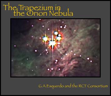 The Trapezium in the Orion Nebula